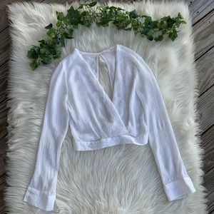 Urban Outfitters Silence+Noise Surplice White Top